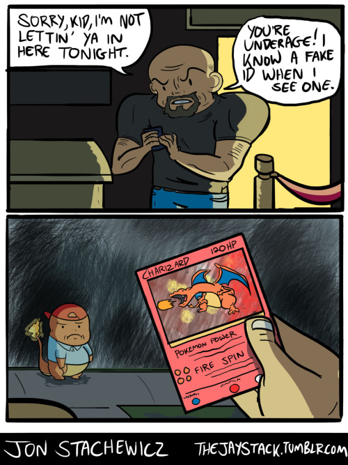 thejaystack:  Pokemon jokes are still cool