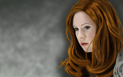 mel-ink:  Another of my paintings. Amy Pond © BBC This © me