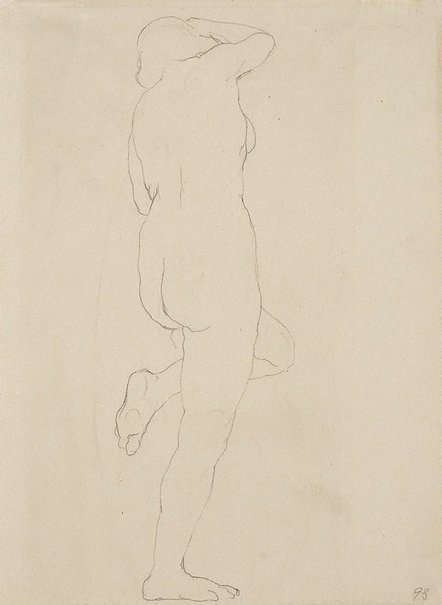 Rupert Bunny, (Australia 1864–1947) Standing female nude, left leg raised