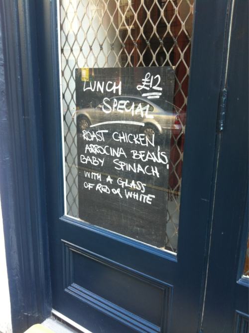 Today's lunch special at ducksoup