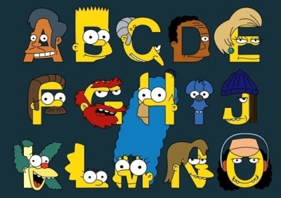 The Simpsons alphabet  (Source: http://www.highsnobiety.com )
