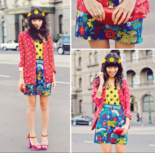 lookbookdotnu:  Clashing prints (by KANI (Connie) Cao)
