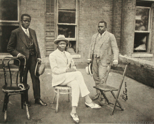 PHOTOGRAPHY BY James Van Der Zee of G. G. G. STUDIO circa 1924  Marcus Garvey (right)