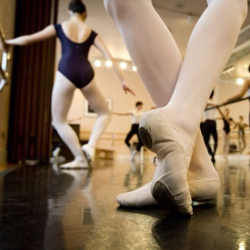 A young ballet students dance during a lesson at the Goh Ballet in Vancouver February 22, 2012. (John Lehmann/The Globe and Mail) @johnlehmann #photojournalism #vancouver #dance #ballet #feet  (Taken with instagram)