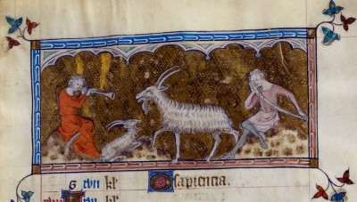 Capricorn, Queen Mary Psalter (c1310-20)