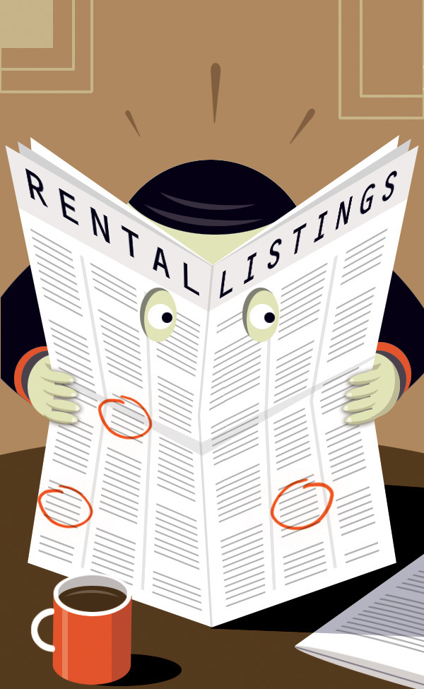 Wall St. Journal piece in Graphic Style on finding rental property