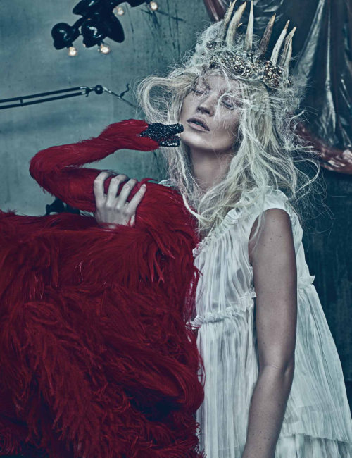 throwherinthewater:  Kate Moss photographed by Steven Klein for W Magazine, March 2012