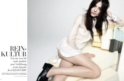 KATI NESCHER features in the march 2012 issue of the german Vogue photographed by Daniel Jackson and styled by Julia von Boehm