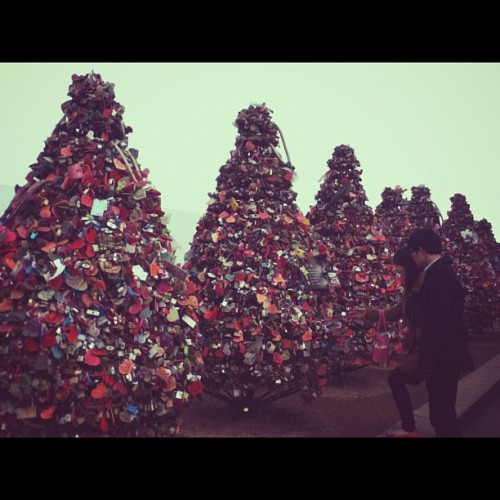Seoul Tower… Love lockers again! (Taken with instagram)