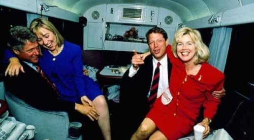 Bill Clinton and Al Gore Party with Unknown Floozies   Tonight they're going to party like it's 1994.