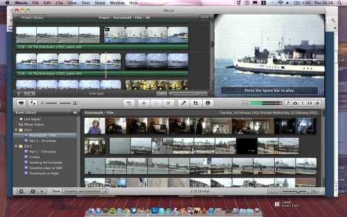 Video editing of old footage of Portsmouth! Being cut down from just over 2 hours. Possible viewing on the Guildhall big screen..  More info soon!