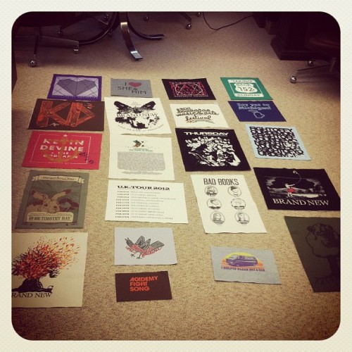 In the early stages of a t-shirt quilt! #ftw (Taken with instagram)