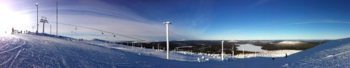Spenging my vacation in the Finnish Lapland.(photo taken with Photosynth for iPhone)