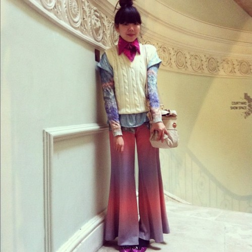 Susie Bubble on the last day of LFW Photographed by Jane Keltner de Valle
