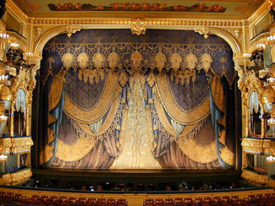 The stage of the (Mariinsky) Kirov Opera and Ballet Theatre,