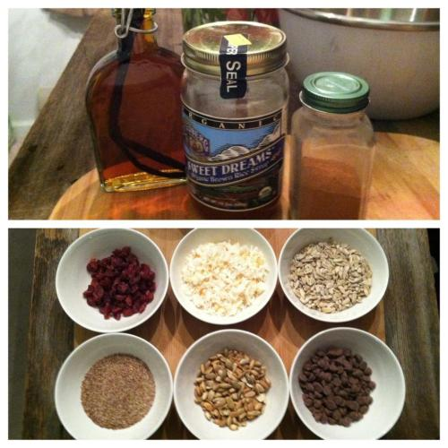 NO-BAKE GRANOLA BAR INGREDIENTS…<3