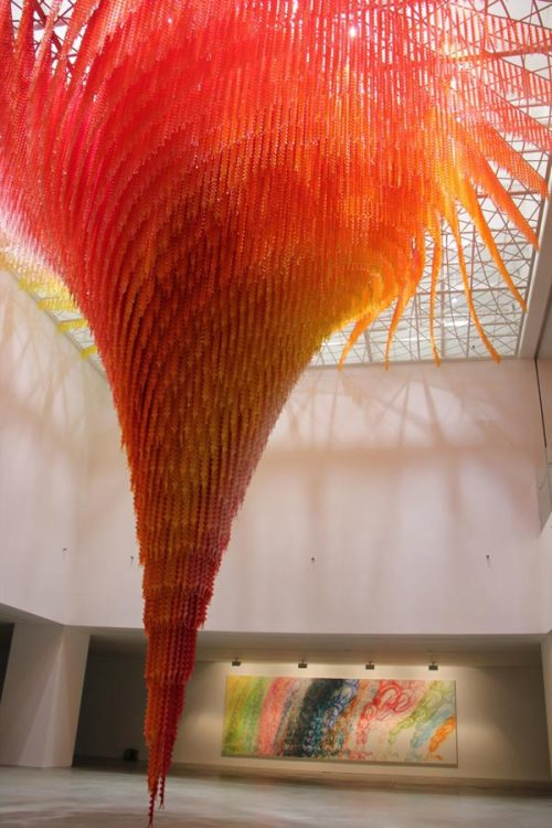 weandthecolor:  Whirlwind Installation of Tiny Bodies  Cause & Effect ceiling installation by Do Ho Suh. via: MAG.WE AND THE COLORFacebook // Twitter // Google+ // Pinterest