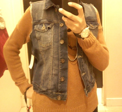 found this mini jean jacket i really liked , but didnt end up buying it