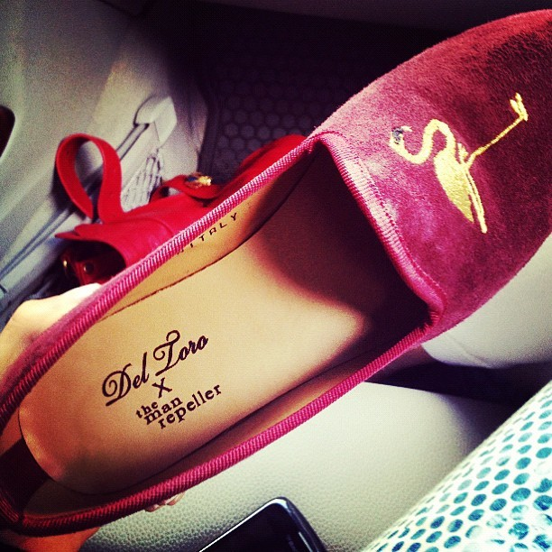 themanrepeller:  Re: the shoes.  (Taken with instagram)
