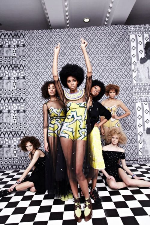 cutfromadiffcloth:  Tata Naka's African Inspired A/W 2012 Collection at London Fashion Week  I <3 everything but the brown shoes maybe. Great anyways