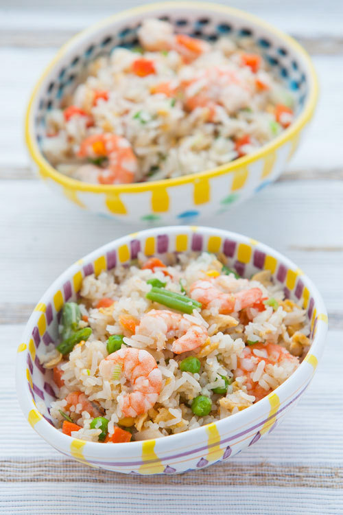 in-my-mouth:  Smoked Haddock and Prawn Fried Rice