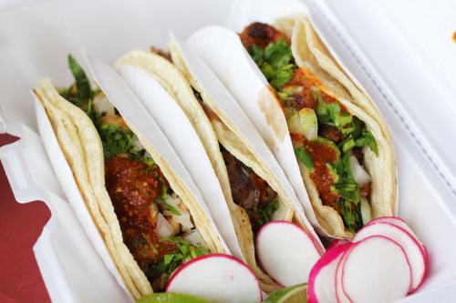 A selection of tacos from Tacos Morelos.