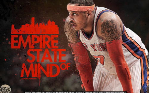 nygiantsrock:  MELO! Let's Go KNICKS! Beat the HEAT!