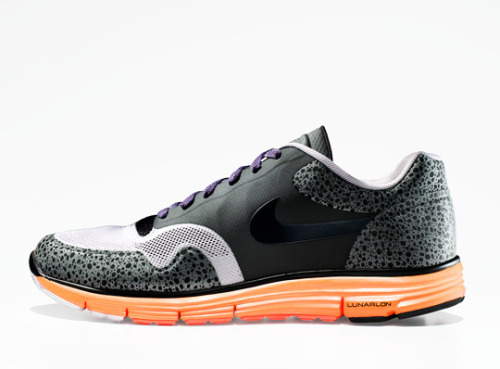 Nike sports lunar safari preview The Nike Air Safari is celebrating it's 25th birthday this year. It has been a surprise to many to see the Lunar get the safari treatment. The upper is made out of recycled material and the popular safari print is nicely wrapped round the front sole and back. Available in different coloured soles, including blue and red.  These should be dropping on July 1st in select stores. Another date in my diary.
