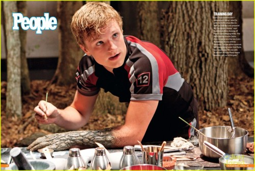 "PEETA PAINTS HIS ARM! And more sneak peeks at THE HUNGER GAMES issue of ""People"" magazine"