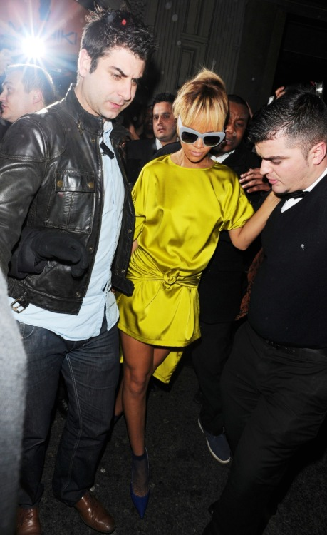 Rihanna leaving Mahiki Nightclub in London - Feb. 22, 2012.