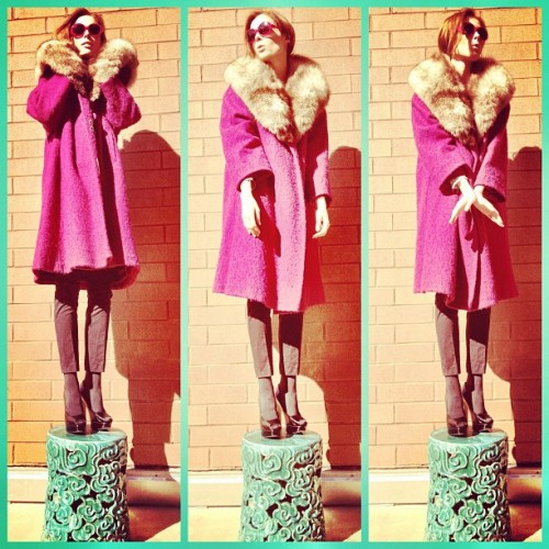 My husband puts me on a pedestal. No, really.  (Taken with Instagram)