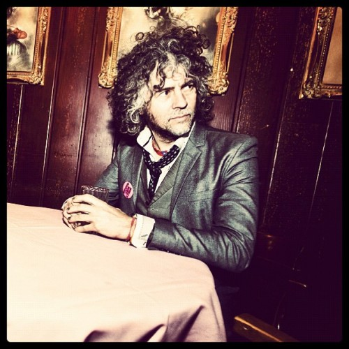 The Flaming Lips and Heady Fwends is the name of the Lips' collaboration-filled Record Store Day release, and the guest list is impressive: Bon Iver, Erykah Badu, Nick Cave, Yoko Ono, Neon Indian, Ke$ha, Prefuse 73, Tame Impala, Jim James of My Morning Jacket, Lightning Bolt, Biz Markie, New Fumes, Chris Martin of Coldplay, and Edward Sharpe and the Magnetic Zeros. It's out April 21. Photo via Billboard.