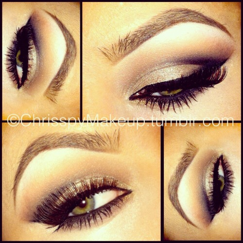Smokey Eye.. Shadows: Smashbox grey (lid), MAC Handwritten and Soft Brown (crease), Carbon (corner) and Mylar (brow bone). Liner: NYC liquid top liner, MAC Blacktrack bottom liner. Lashes: Maybelline Great Lash, and MAC 34 lashes. Brows: Underlined with MAC Dipdown and shaded with Smashbox brown powder.