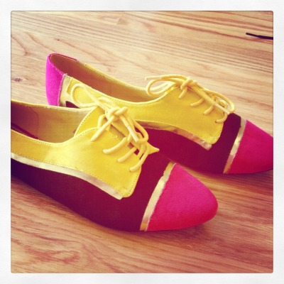 Samantha Spiegel San Francisco, California Pacific Heights Color block shoes February 2012