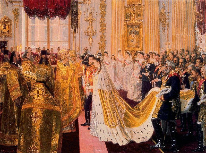 The Wedding of Tsar Nicholas II Laurits Tuxen, 1895