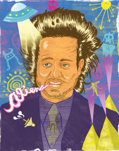 finished my portrait of ancient astronaut theorist Giorgio A. Tsoukalos Kevin Whipple