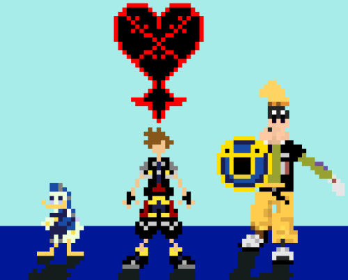 pixelthat:  Sora, Donald, and Goofy: PixelThat Kingdom Hearts 2: (2005)