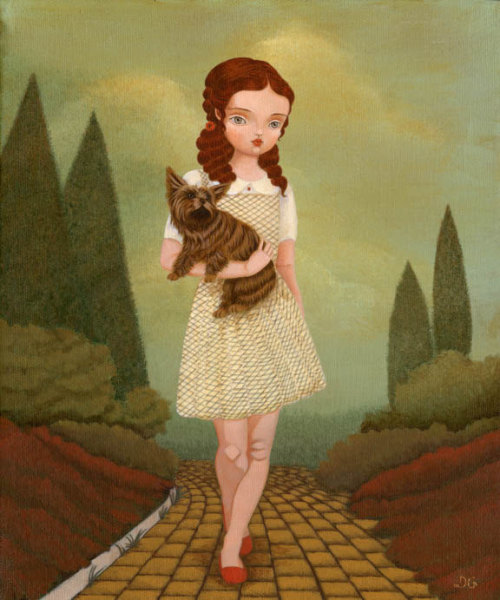 "fairytalemood:  ""Wizard of Oz"" by The Little Fox"