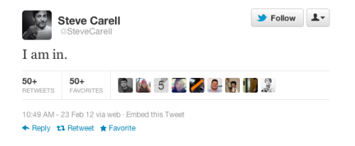 Steve Carell has joined Twitter.