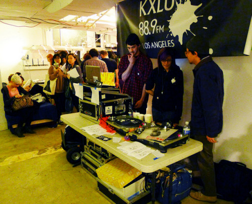 """Music played at the zine fest, DJ'ed by a local station. MUSIC NONSTOP! It's nice having a soundtrack to your life."" thanks marinaomi thanks to derek, ryan smith, bennett, mukta, mike witte, robert cifuentes, danny brown, anna, tina, nima, erik felix, and eric j. for helping me out with getting kxlu at l.a. zine fest. finally, thanks to rhea for inviting us to dj."