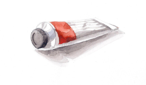 "PAINT TUBE, watercolor 3""x5"" I love looking back in my sketchbook! This is literally from 6 years ago. Not much to say about it, but I like it as a practice piece. Thanks for checking out my work!"