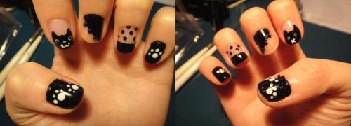 These are my nails :3 Nyan~