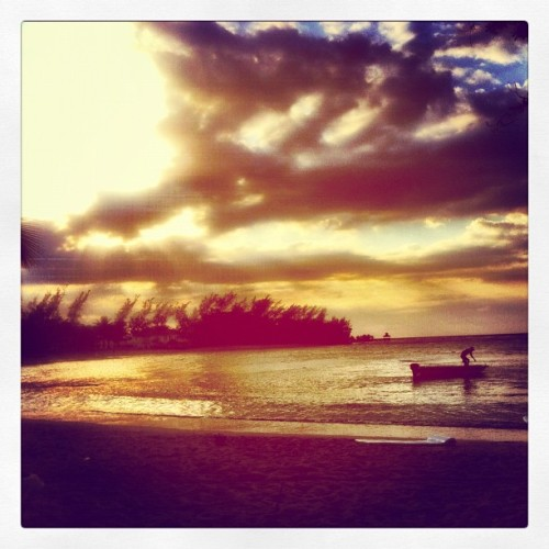 Boats coming in for the evening #jamaica #sunset #beach  (Taken with instagram)
