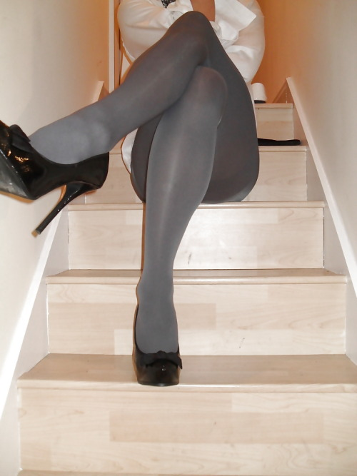 sexy grey #opaque #pantyhose #tights