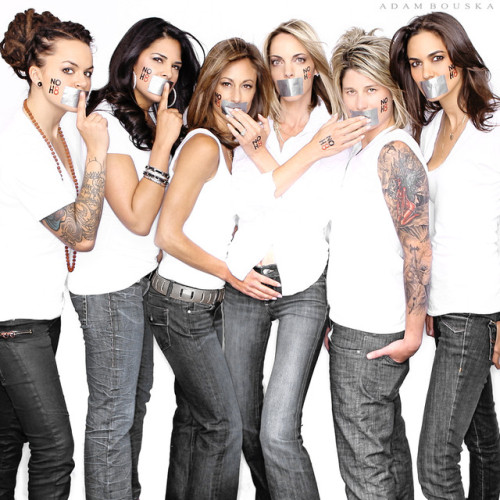 The cast of The Real L Word poses for equality