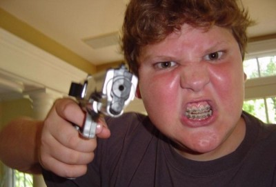 Little Crazy Kid And A Plastic Gun Funny Pictures And Gif Collection Tumblr Funny Stuff Funny Facebook Pictures Fanpage http://www.facebook.com/FunnyPicturesCollection