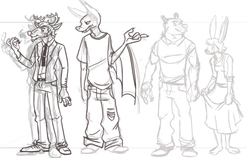Working on some characters for a project…