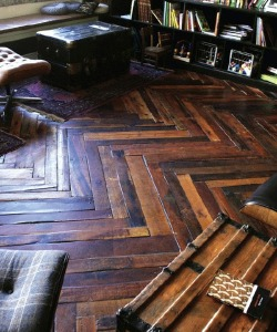 Chevron floors.