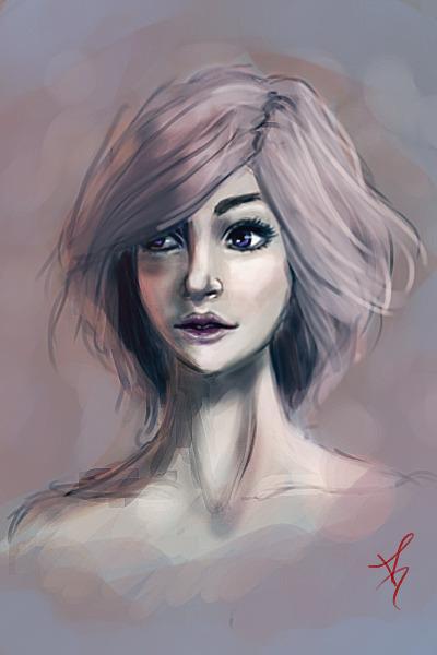 20 minute warm-up painting.  Additional 20 minutes because the original colors weren't where I wanted to go. Blog
