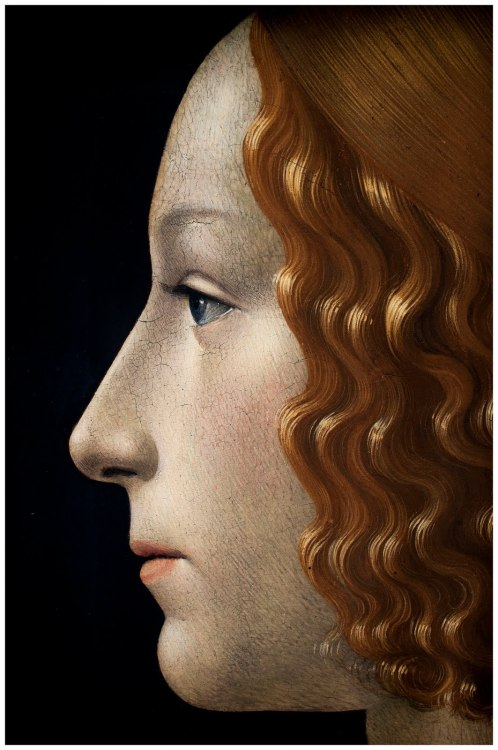 loverofbeauty:  Domenico Ghirlandaio, Portrait of Giovanna Tornabuoni (detail), 1488  If I were a good oil painting portrait…
